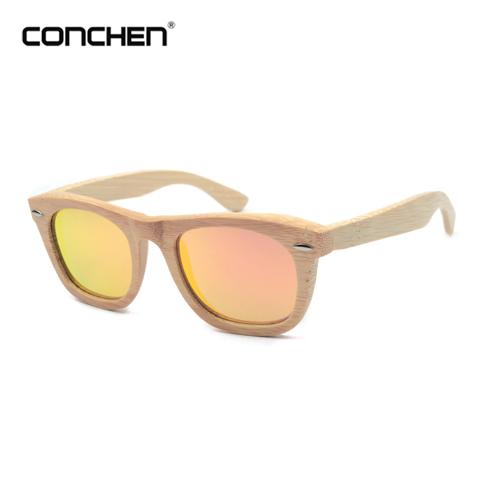 2018 new year glasses mirror lens latest fashion bamboo sunglasses