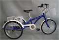 Feichi jianma 20 inch hot selling steel single speed three wheel bicycle tricycle trike