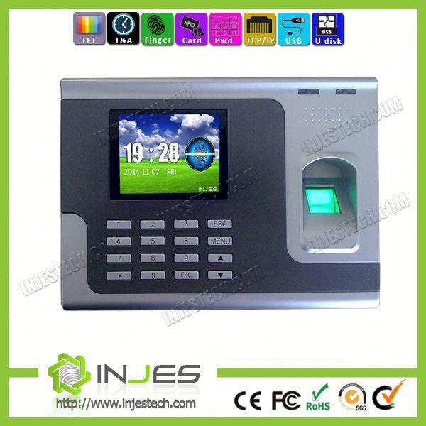 INJES staff employees workforce attendance management software and biometrices fingerprint working time recording machine