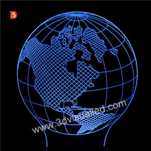 Colorful LED Earth 3D Visual Lamp Creative Gift 3D Visual Night Lamp