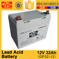 Sufficient capacity sealed lead acid dry charged battery 12v 32ah
