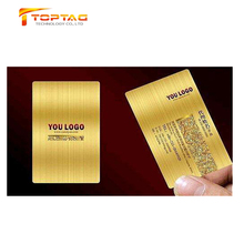 Plastic Metallic PVC Drawing Card, Gold Metallic PVC Business Card