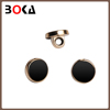 Excellent quality round shape custom made black plastic buttons for windcoat