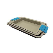 Ceramic Nonstick bakeware set loaf pan with silicon handle