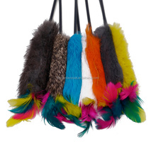 Shipping from china new product soft colorful feather cat teaser