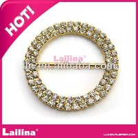 Fashion silver ribbon rhinestone buckles for belts