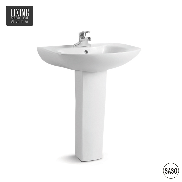 Bulk production Promotional ceramic qualified customised LOGO wash basin with stand