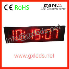 outdoor use digital countdown led clock for marathon sport