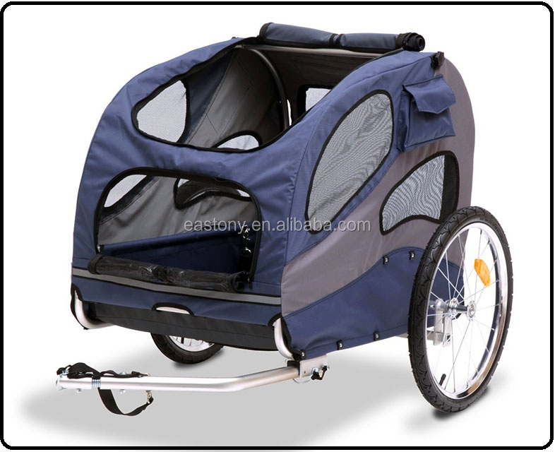 Foldable Bicycle Pet Trailer, Large Suitable for Pets Up to 110 Pounds
