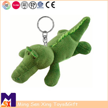 Promo gifts manufacturer custom plush crocodile stuffed animal keychain