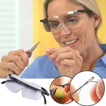 Unisex lightweight portable big vision rimless magnifying reading glasses