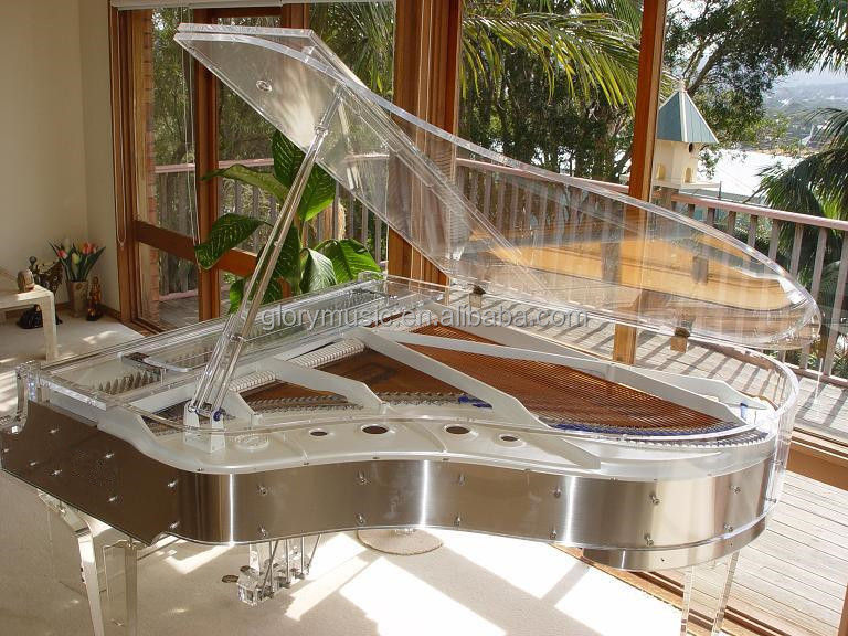 [Chloris] Transparent Grand Piano HG-186A with Automatic Piano Player System