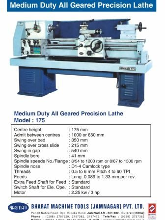 Lathe Machine All Geared Medium Duty