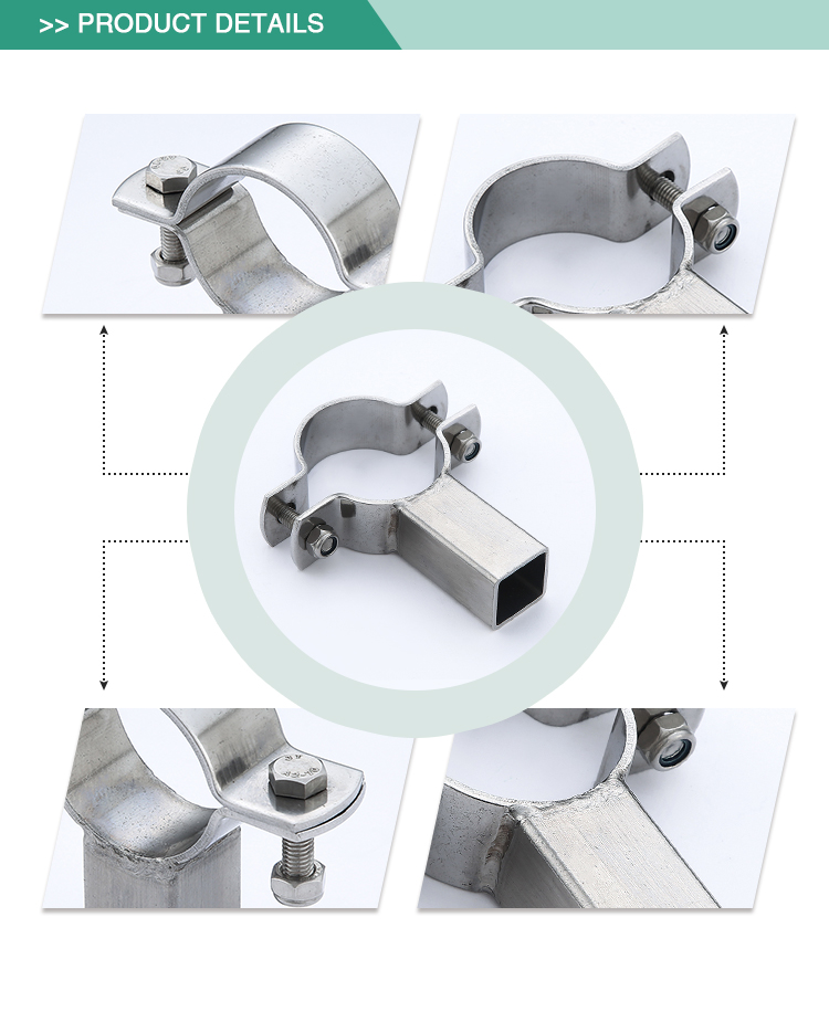 Hot sell adjustable stainless steel standard sanitary pipe holder