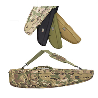 High quality 100 cm tactical gun case black long camo hunting military molle wholesale nylon soft airsoft rifle case gun bag