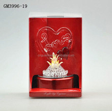 LED glass wedding decorations and Birthday Gift for Lovers