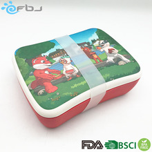 2018 New Eco friendly Lunch Box Bamboo Fiber