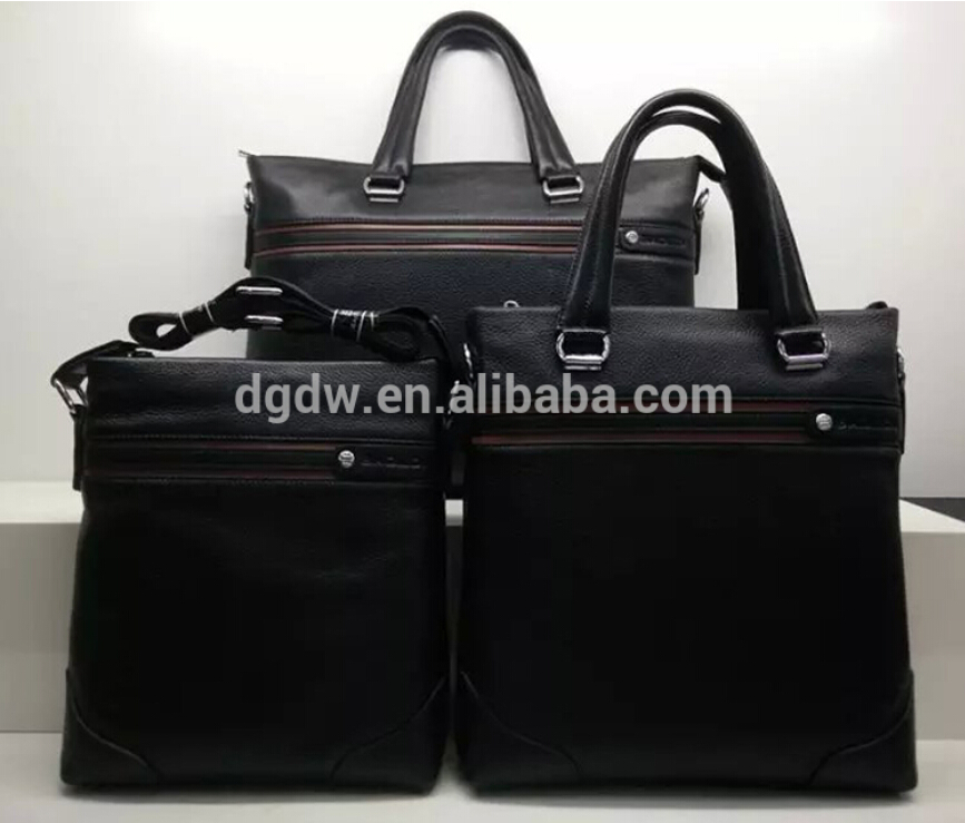 Fashion Hot Sale Genuine Leather Series Business Men's Briefcase Bags