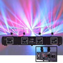 4 Lens 260mW Stage Laser Light 4 Beam DMX Red Green DJ Disco Party Show Lighting
