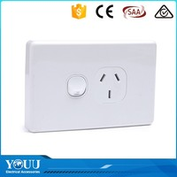 YOUU Australian Standard SAA Approved Modern 16A Electric 1 Gang 1 Way Wall Switch Socket