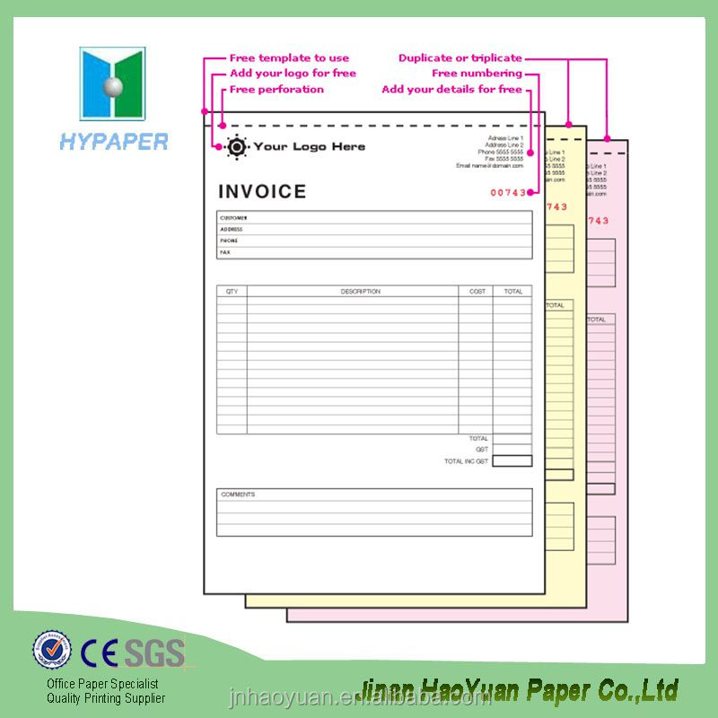 Duplicate Purchase Order Form Repair Book Invoice - Buy Repair