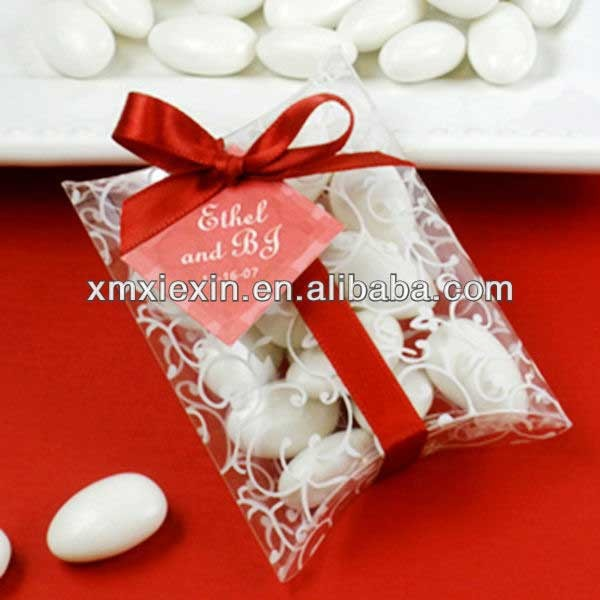 Wholesale custom printing clear PVC pillow box