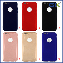 [GK] Solid Color Skin Grain Soft TPU Phone Case For iPhone 6 Celulares Cover