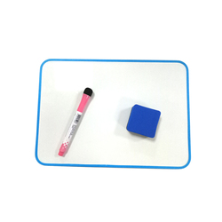A4 Double Side Magnetic Kids Lapboard With Frame/Lined Printed Dry Erase Writing Whiteboard With Magnetic Markers And Erasers