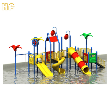 water slide plastic outdoor playground water slide water park slide for sale HF-G136A