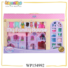sweet family bedroom furniture sets with music and light plastic kids doll house