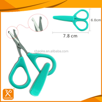 "4"" FDA stainless steel round tip safety professional manicure scissors"