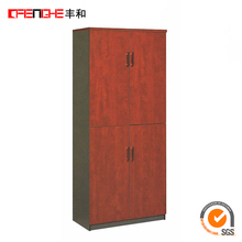 Office furniture wooden antique filing cabinet with 4 drawers dividers