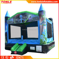 inflatable alien space invaders bounce house planet for sale