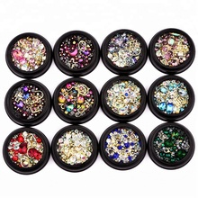 2018 Alloy Glitter 3d Nail Art Decorations with Rhinestones,Alloy Nail Charms,Jewelry on Nails Salon Supplies