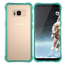 TPU bunper hard PC layer phone cover for Samsung S8, for Galaxy S8 clear case