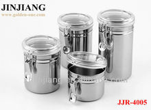 3pcs couscous Stainless Steel Tea Sugar Coffee Canister Set with Click Lock