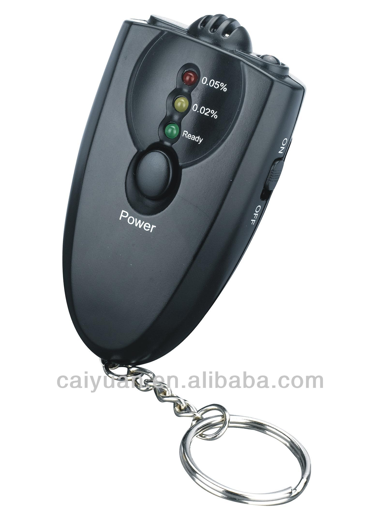 Keychain alcohol breath tester with printer