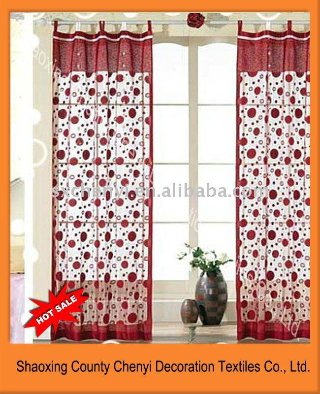 2011new 100%polyetser yarn dyed string fringe curtains