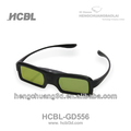 Hot sale all in on 3d dlp link projector 3D glasses 3d active shutter virtual video glasses