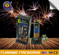 "100% on-time shipment protection Mortero Display Shell Colores 1.5"" 1.2' shell fireworks"