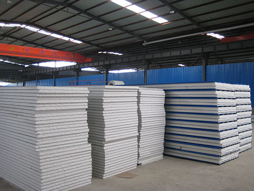 prefabricated steel frame EPS sandwich panel worker house