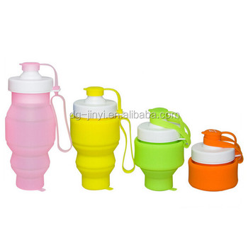 High quality flexible joyshaker water bottle collapsible silicone water bottle