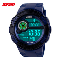 New Designer SKMEI 1027 Alarm Watches Fashion Digital LED stylish Sports Wristwatches Hot Sale 5ATM Waterproof Watches men