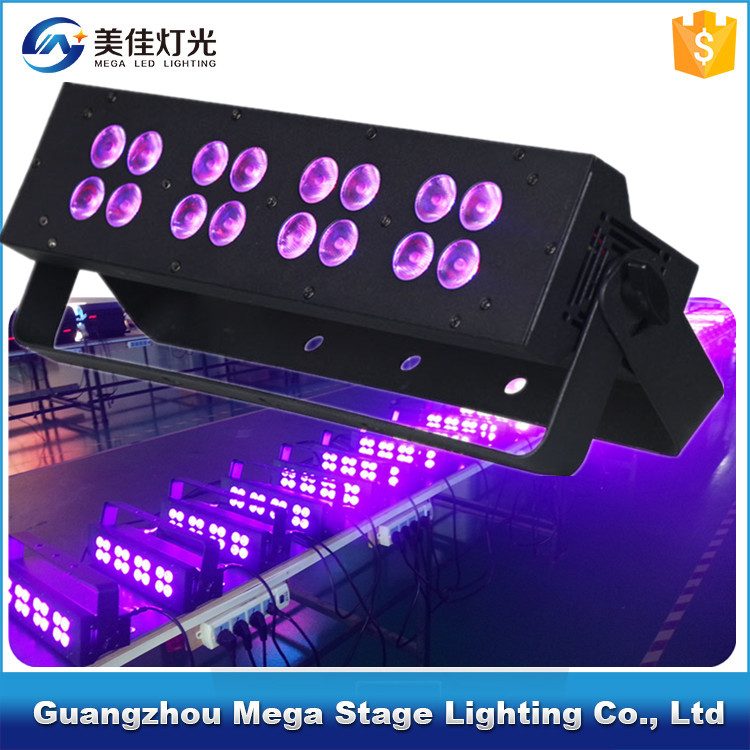 wedding decorative 16pcs 3w UV led backlight stage lighting