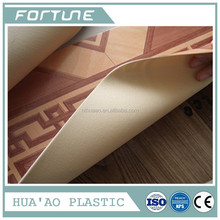 HOT! PVC sponge flooring roll plastic wooden grain with different quality