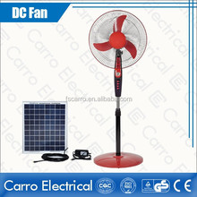 "Energy saving 12V 16"" solar fan outdoor stand fans"