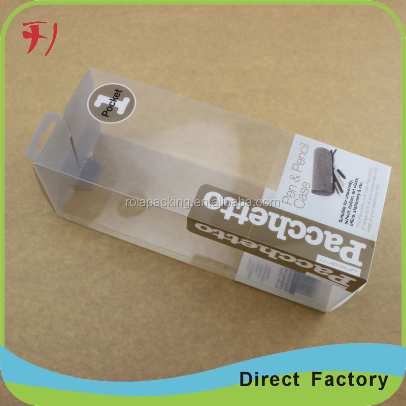 Customized clear acetate boxes PVC/PP box with printing for gift
