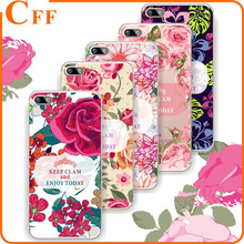 For Samsung On5 On7 Case Soft TPU Flowers Girls Painted Phone Skin Clear Back Case For Samsung Note 4 5 Note5 Cover