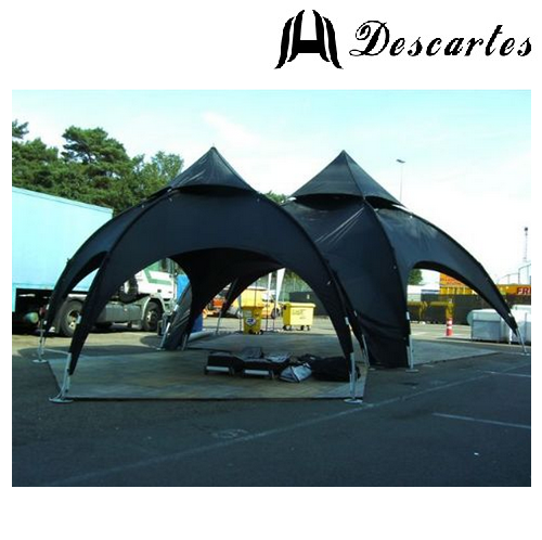 Black oxford cloth spider tents/4.5m dome tents/commercial arch tents for trade show