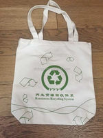 Contemporary promotional white color cotton bag
